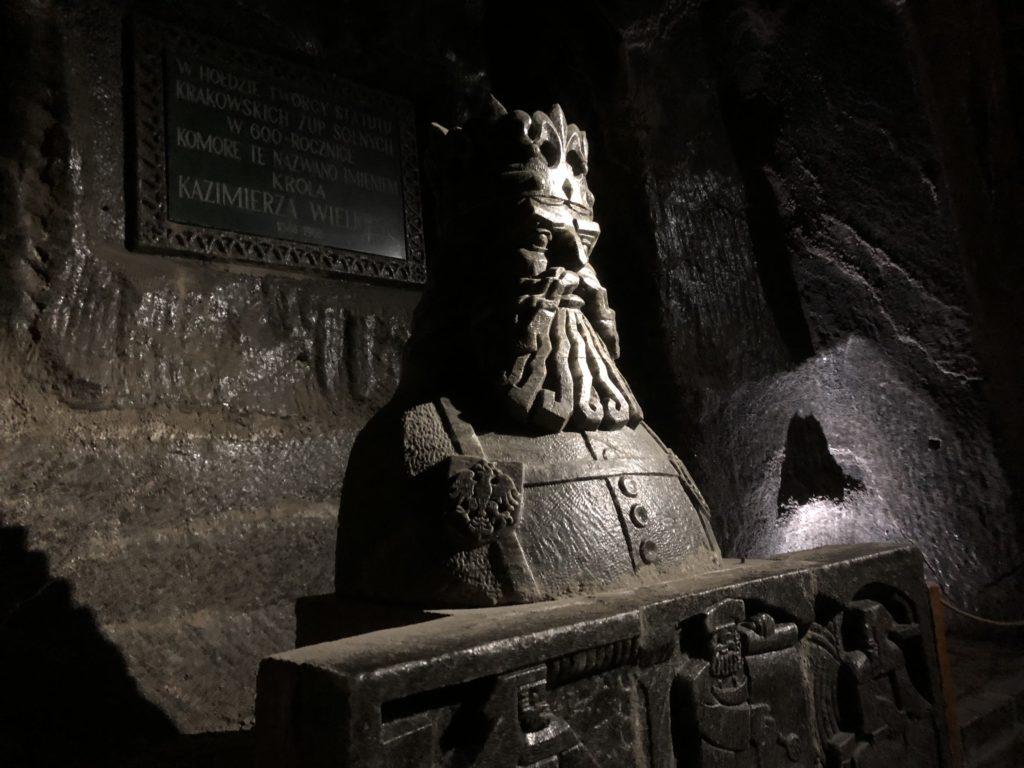 ヴィエリチカ岩塩抗の塩でできた王様の像