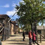 アウシュビッツ強制収容所の門、ARBEIT MACHT FREI(働けば自由になる)