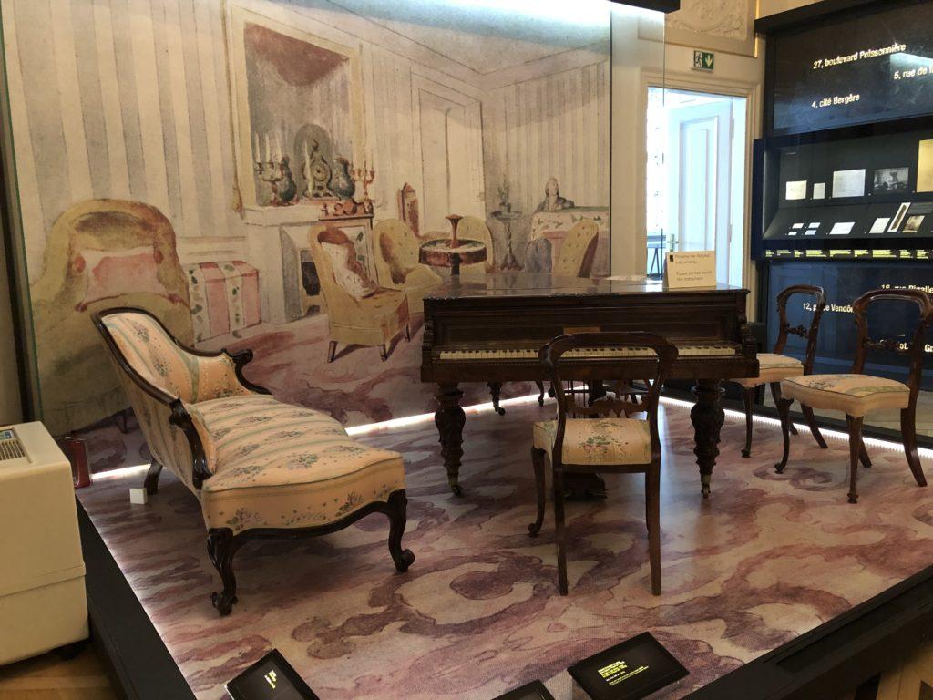 ワルシャワのフレデリック・ショパン博物館にあるショパン最後のピアノ