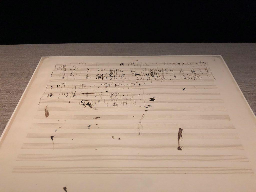ショパン直筆の楽譜がポーランドのフレデリック・ショパン博物館にある