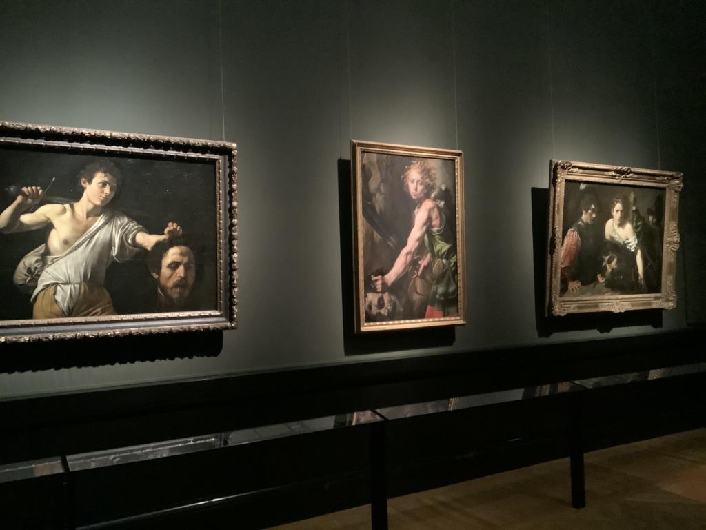 ウィーン美術史美術館、カラヴァッジョの3点の絵