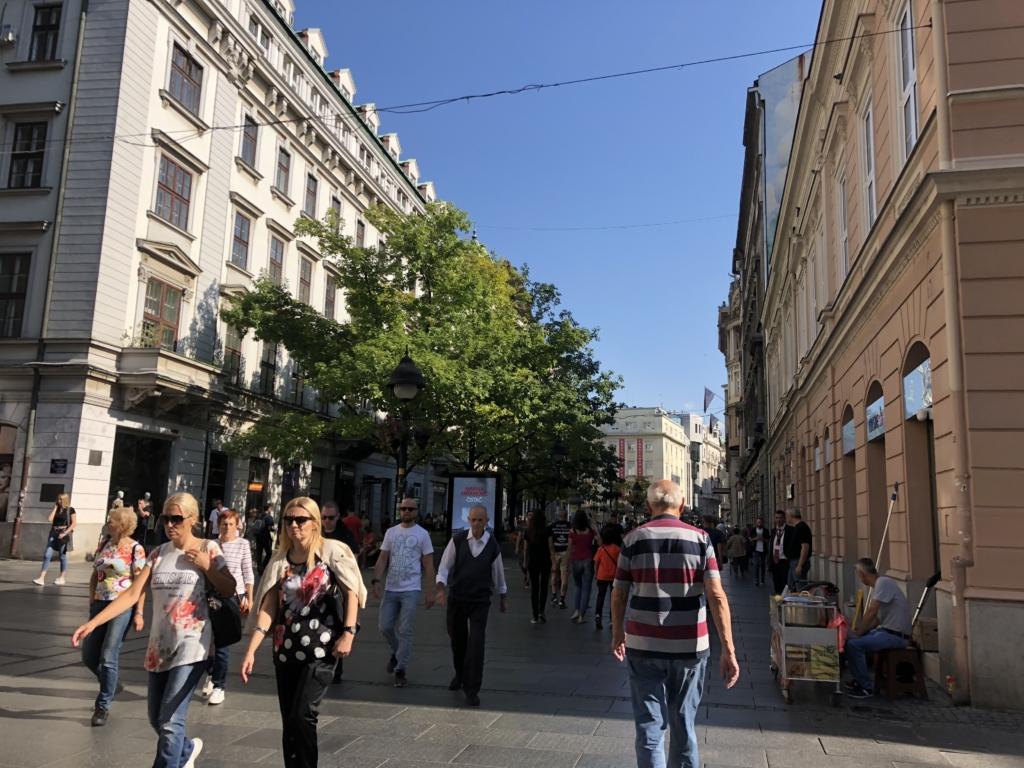 ベオグラードの街並み