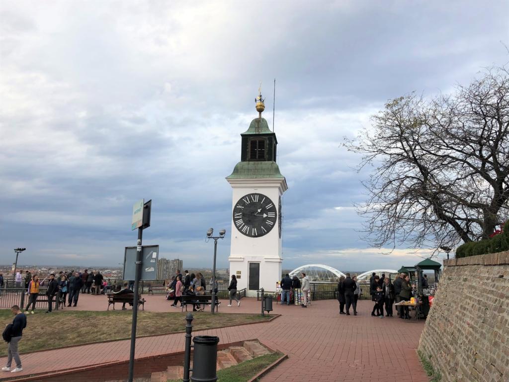 ノヴィサドの要塞の時計台