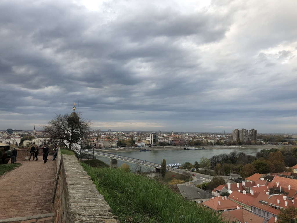 ノヴィサドの要塞から見た市街地