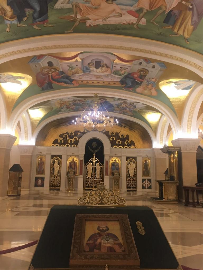 セルビアの聖サワ大聖堂の祭壇