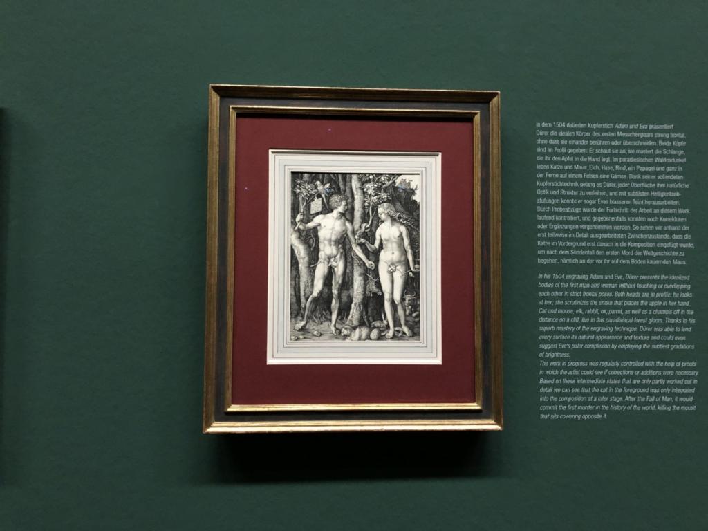 ウィーンの美術館に展示、デューラーのアダムとイヴ