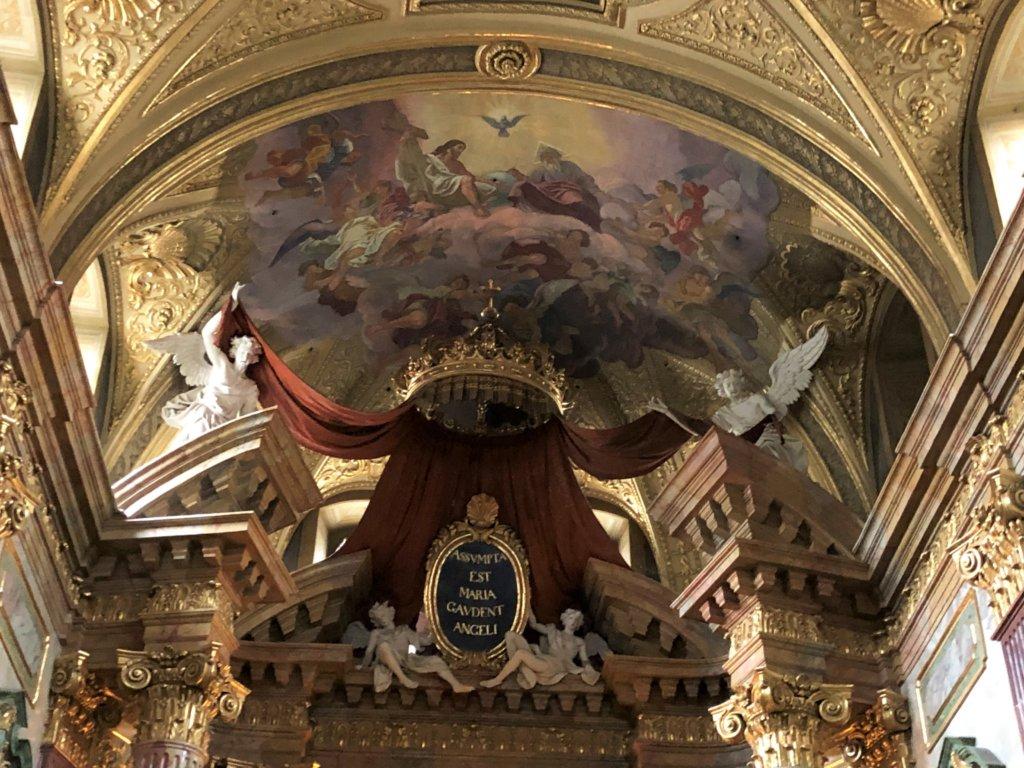 ウィーンのイエズス会の教会の天井絵