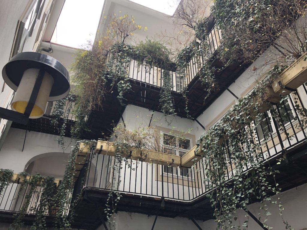 ウィーンの住宅の中庭