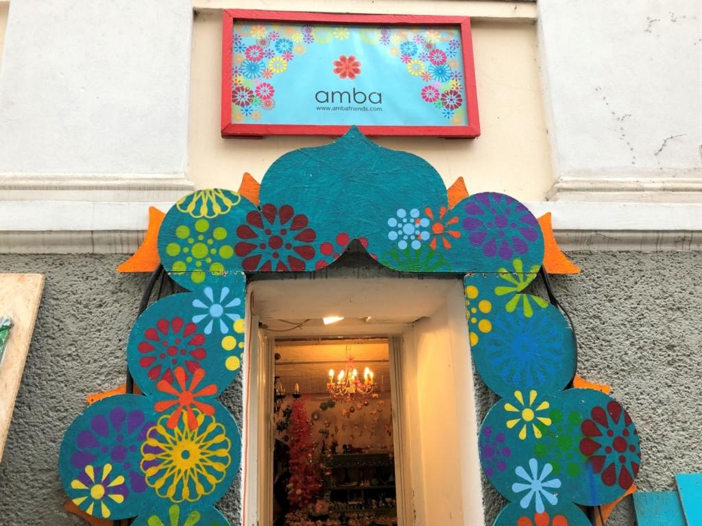 ウィーンの雑貨屋、ambaの外観