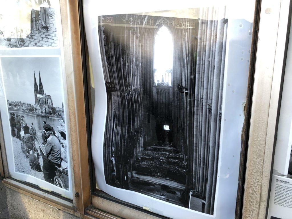 ケルン大聖堂が焼かれたときの写真