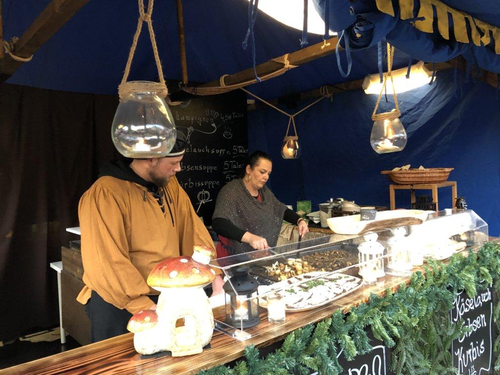 Siegburg(ジークブルク)クリスマスマーケットのきのこの屋台