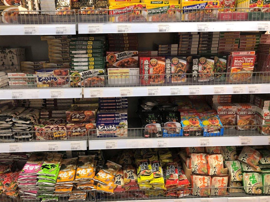 ドイツのスーパーマーケットのカレールー、ラーメン