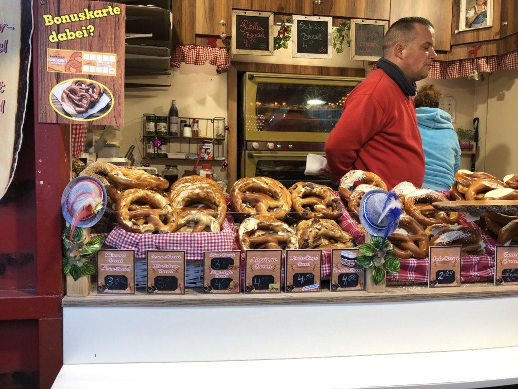 ドイツクリスマスマーケットのプレッツェル
