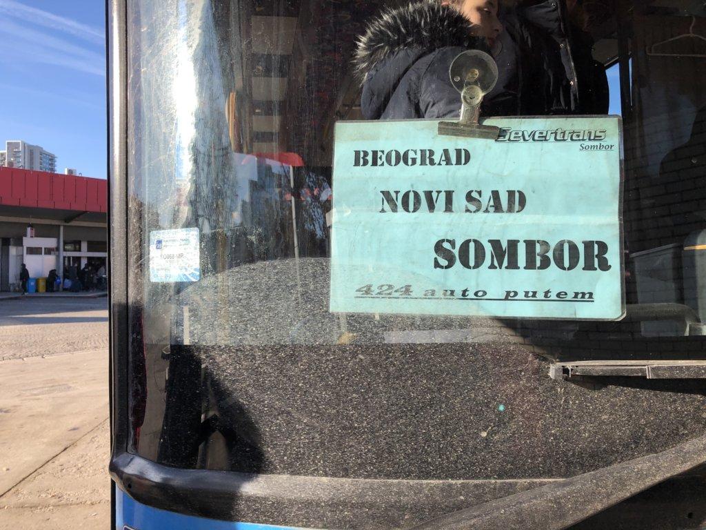 バスBEOGRAD NOVISAD SOMBOR