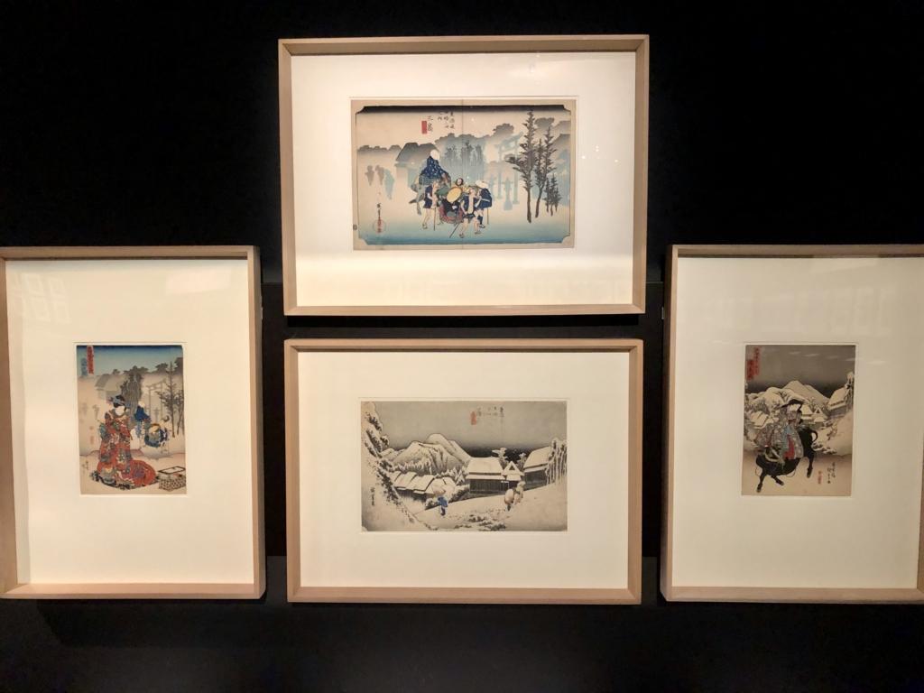 冬の風景の浮世絵