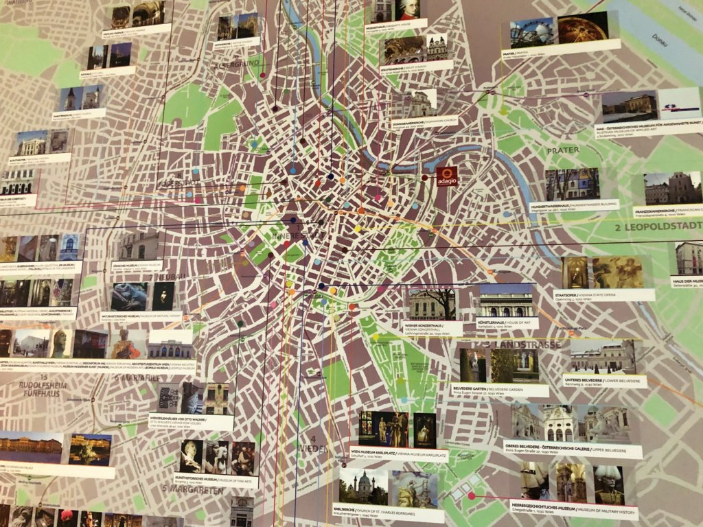 ウィーンの地図