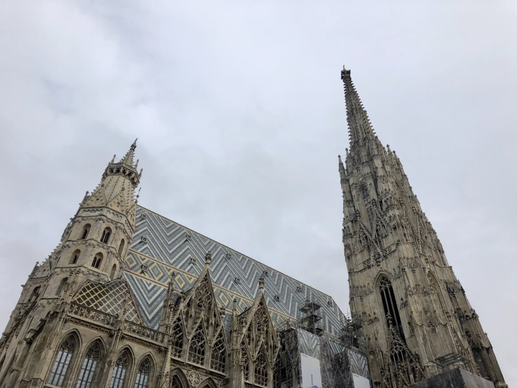 ウィーンのシュテファン大聖堂の外観