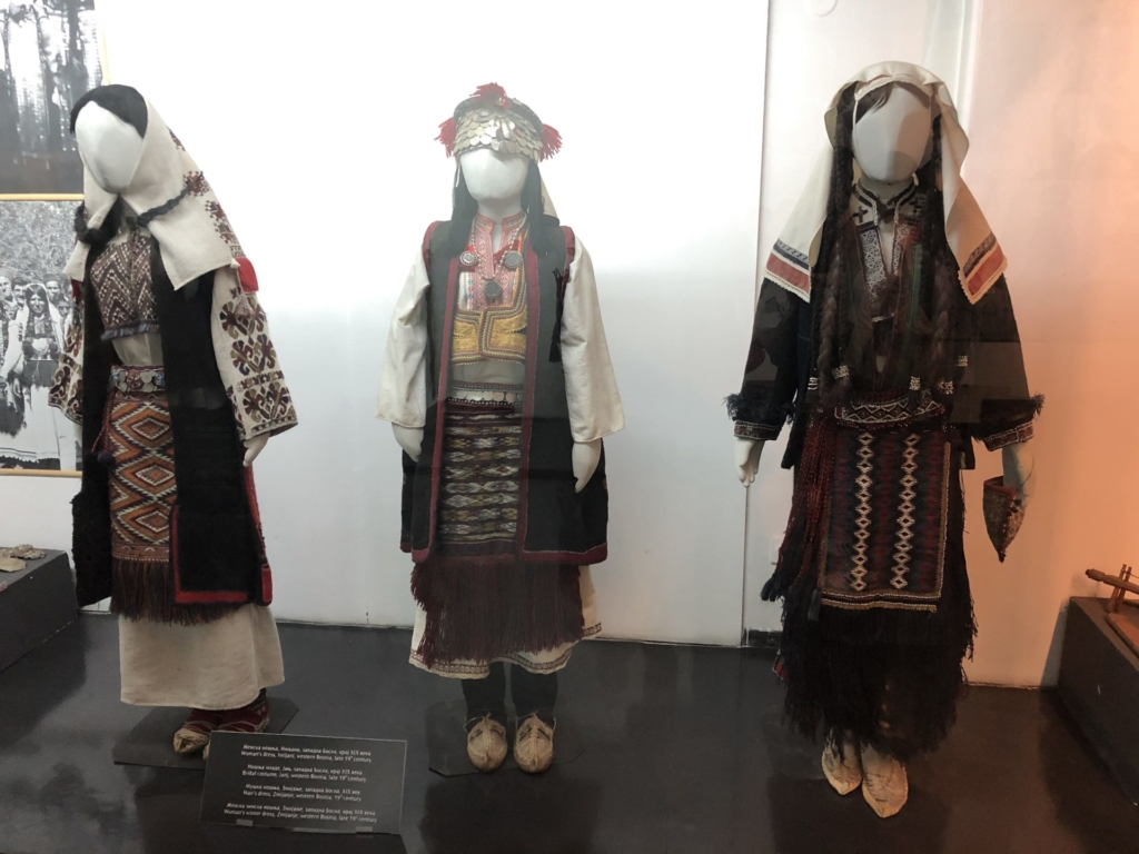 セルビア、ベオグラードの民族博物館の民族衣装
