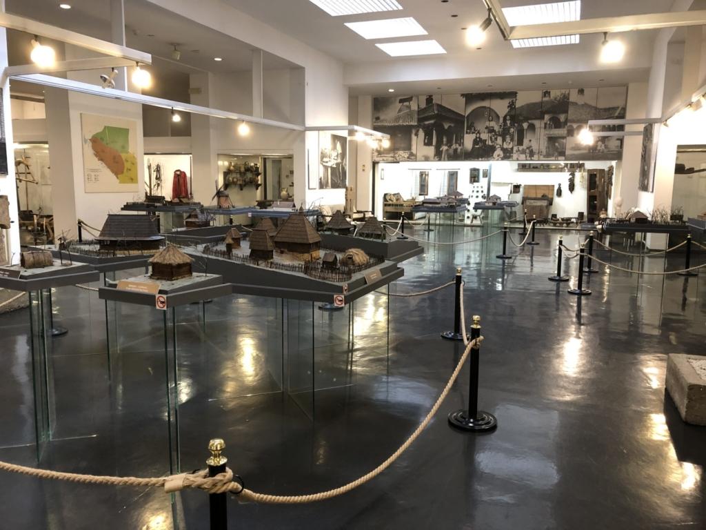 セルビア、ベオグラードの民族博物館の建築模型展示