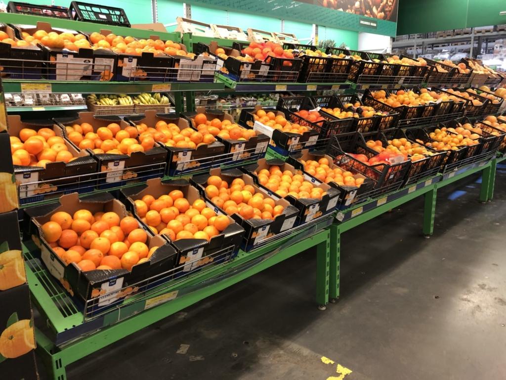 ベオグラードのMETROのオレンジ売場