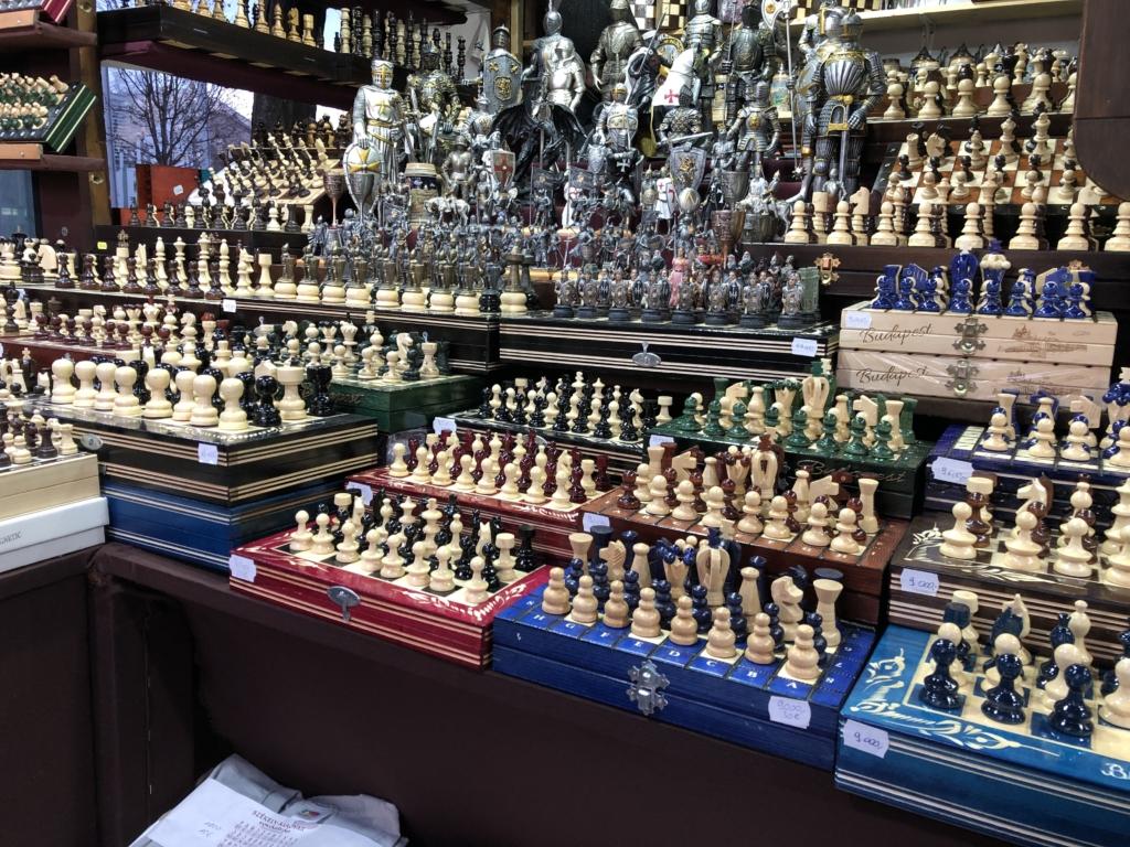 ブダペストのクリスマスマーケットのチェス