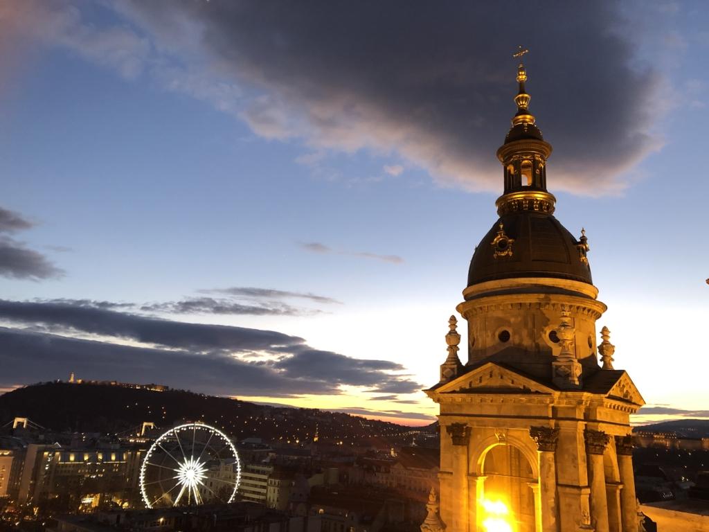 聖イシュトヴァーン大聖堂の展望台と観覧車