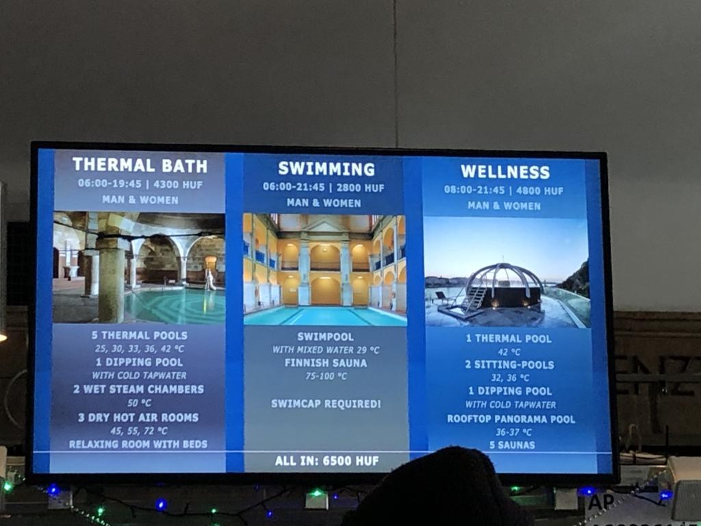 ブダペスト、ルダシュ温泉The Rudas Thermal Bathsのチケット売場