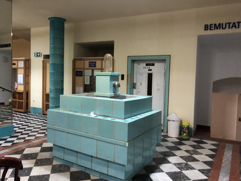 ブダペスト、ルカーチ温泉St. Lukács Thermal Bathsの飲泉