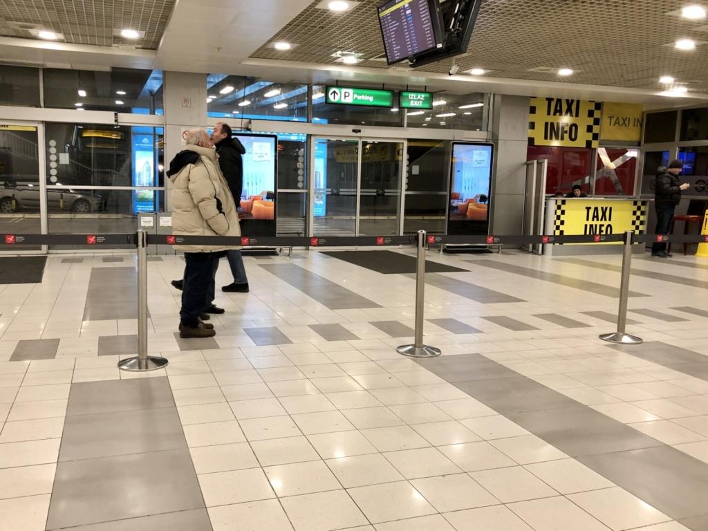 セルビア、ベオグラード空港の到着口