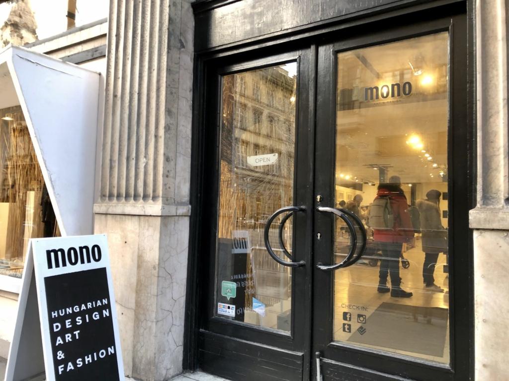 ブダペストのMONO art & designの入り口