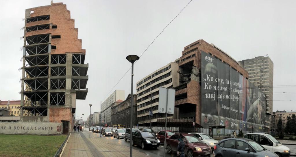 ベオグラードの空爆ビル
