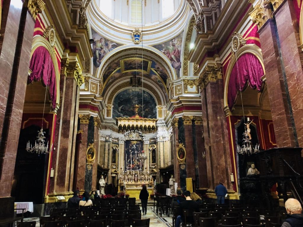 マルタ、イムディーナの聖パウロ大聖堂(The Cathedral)の祭壇