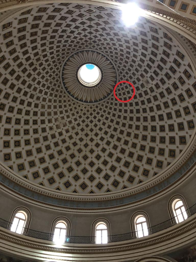 マルタの教会、モスタ・ロチュンダのドーム