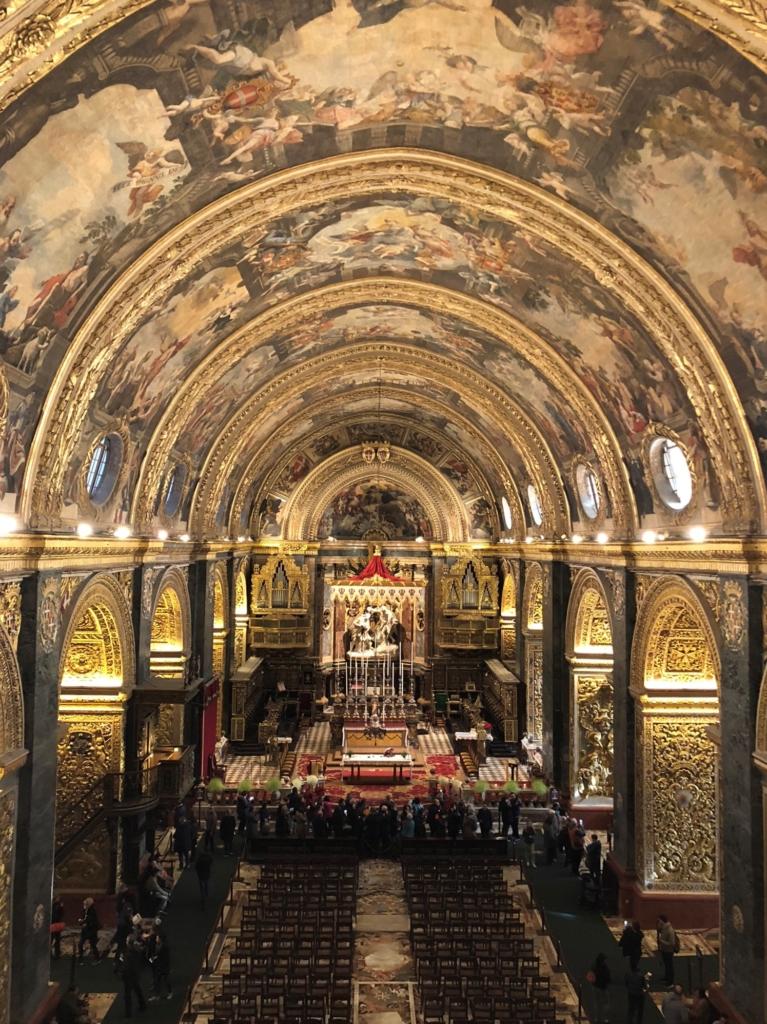 マルタ、聖ヨハネ大聖堂の天井画