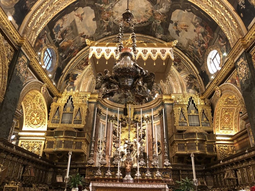 マルタ、聖ヨハネ大聖堂の祭壇