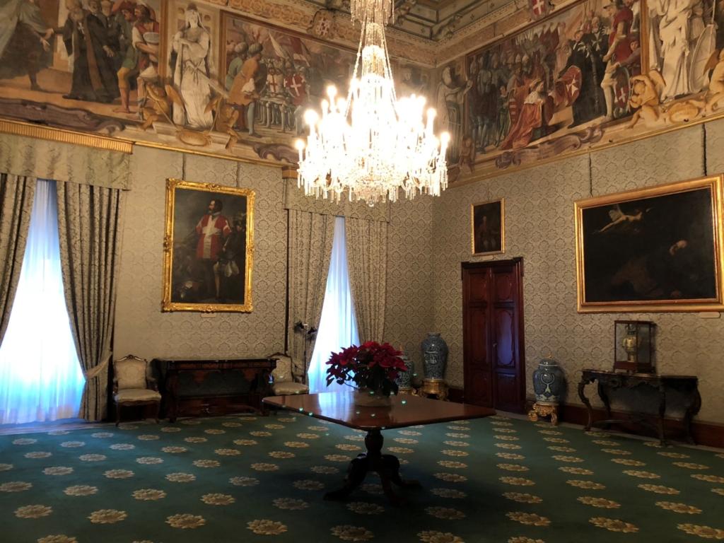 マルタ騎士団長の宮殿(Grand Masters Palace)の室内
