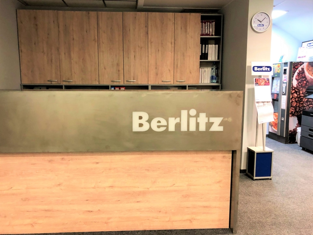 Berlitzベルリッツの受付