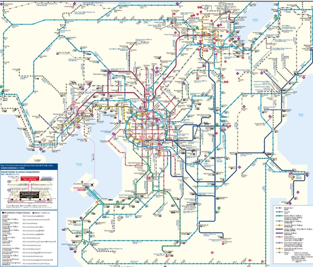 関西路線図RouteMap