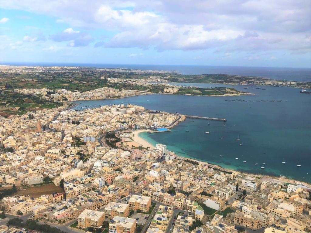 飛行機から見たマルタ島