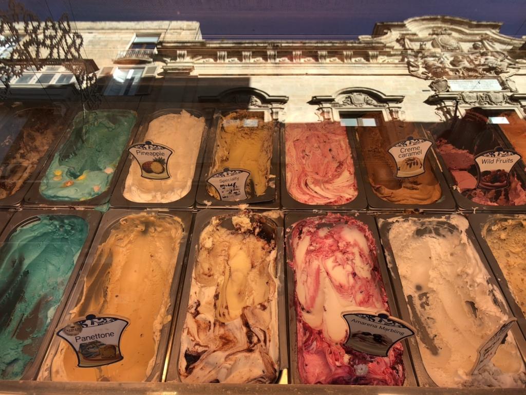 マルタのジェラート店